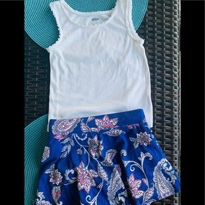 White lace trim tank old navy 4t summer worn once